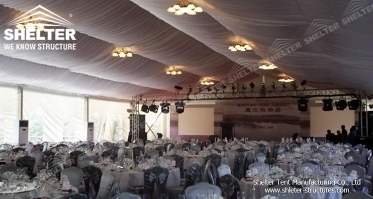wedding tent with table and chair