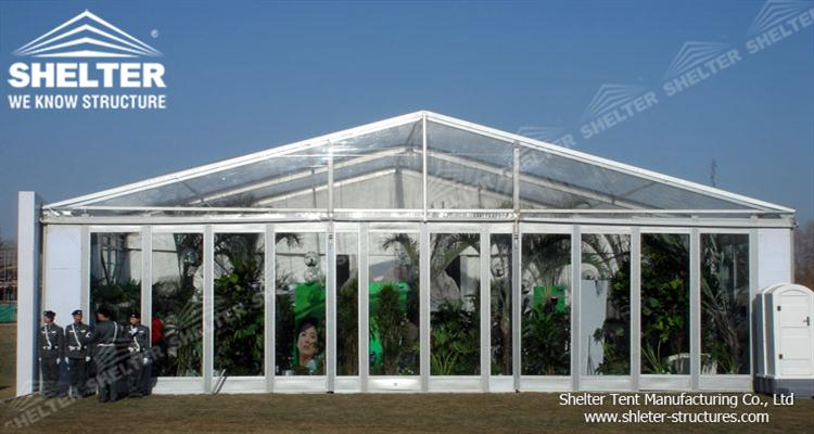 clear span exhibition tents