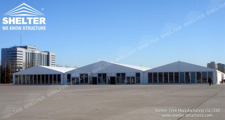 large warehouse tent